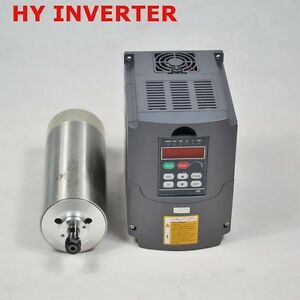 80mm Diameter 1 5kw Water Cooled Motor Spindle Drive Inverter Vfd Top Quality