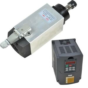 4kw Er20 Air cooled Spindle Motor And Matching 4kw Inverter Drive Vfd For Cnc