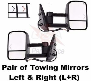 Chevy Avalanche 03 04 05 06 Power Heated Telescopic W Signal Lamp Tow Mirror New