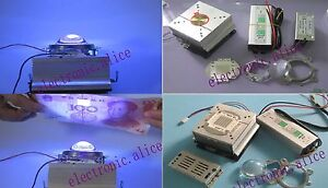 50w Led Driver 50w Uv 395nm Chip Led Heatsink Lens With Reflector Collimator