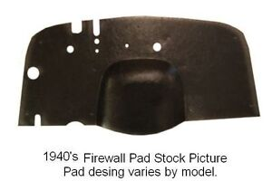 1942 1948 Lincoln Zephyr Molded Firewall Pad