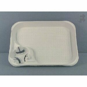 Case Of 200 Chinet 20961 Strongholder Molded Fiber 1 Cup Carrier With Food Tray