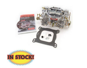 Edelbrock Performer Series 600 Cfm Manual Choke Carburetor W Satin Finish 1405