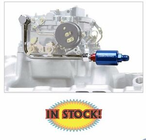 Edelbrock 8134 Fuel Line Filter Kit For Eps Carbs Chrome