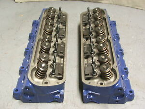 1974 Ford 302 Heads With Screw In Studs And Pushrod Guide Plates