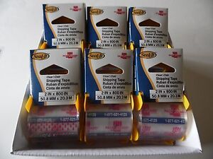 12 Rolls Seal it Carton Sealing Packing Shipping Box Tape 2 X 800 Lepage