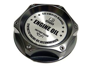 Gunmetal Synthetic Oil Billet Cnc Engine Oil Filler Cap Dodge Vehicles Sl