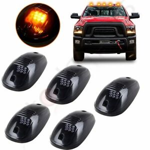 Smoked 5pcs Led Cab Roof Running Marker Lights For 2003 2018 Dodge Ram Pickup