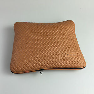 32042 Circle Cool Orange Brown Pvc Leather Seat Cushion Blanket Suv Car Cadillac