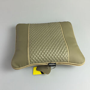 31022 Circle Cool Beige Pvc Leather Seat Cushion Blanket Suv Car Cadillac Acura
