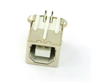 New Plug Port Connector Jack For Usb 2 0 Type B Female Right Angle Replacement