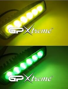 6 Inches Cree Led Green Yellow Universal Fog Driving Light Bar Bike Jeep Truck