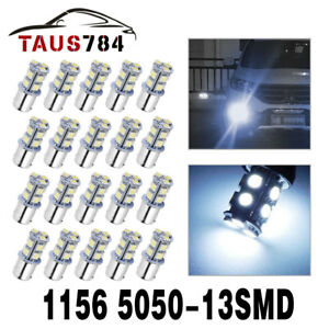 20x White 1156 13 Smd Turn Signal Rv Led Interior Light Bulbs 1003 1141 7000k
