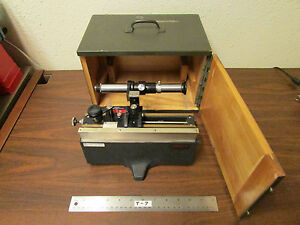Cenco Central Scientific Visual Vernier Unit Microscope In Original Box