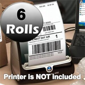 6 Rolls 220 roll Thermal Shipping Labels 4x6 Compatible 1744907 Dymo 4xl Printer