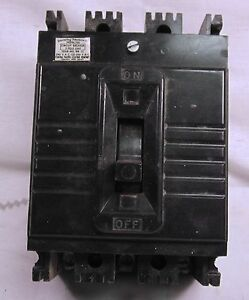 Federal Pacific Fpe 20 Amp 3 Phase Circuit Breaker E Frame Used