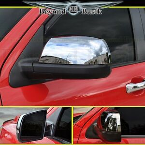 For 2008 2019 Toyota Sequoia Chrome Mirror Covers Non Towing 2pc L R Top Half