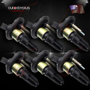 New 6 Pack Ignition Coils For 02 06 Trailblazer Ext Rainier Colorado Uf 303