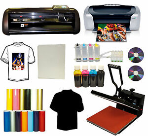 15x15 Heat Press 13 Vinyl Cutter Plotter printer ciss ink Refils pu Viny decal
