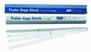 0025 Thick 1 2 X 12 Feeler Or Thickness Gage Stock Strips 12 Pcs