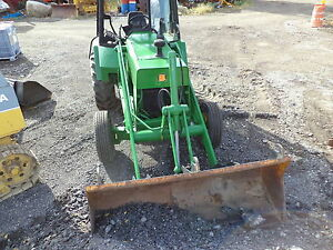John Deere Tractor 210 With Loader Diesel Motor pto cab good Tires One Owner