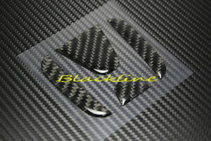 Carbon Fiber Rear Trunk Emblem Decal Insert Filler For 08 16 Honda Accord Coupe