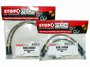 Stoptech Stainless Steel Braided Brake Lines front Rear Set 35001 35500