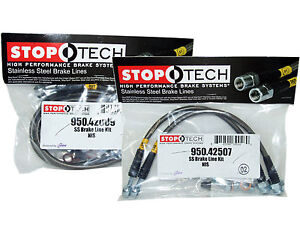 Stoptech Stainless Steel Braided Brake Lines front Rear Set 42009 42507