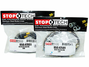 Stoptech Stainless Steel Braided Brake Lines Front Rear Set 47001 47501