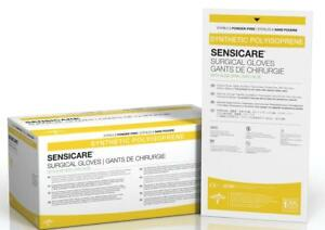 Medline Sensicare With Aloe Latex free Surgical Gloves Box Of 25 Pairs