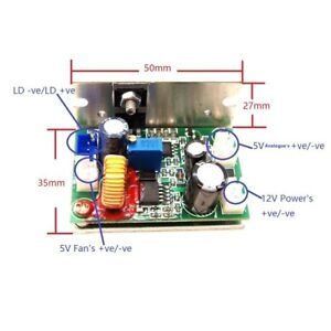 Analogue Laser Diode Driver adjustable Current Output 50ma 3000ma