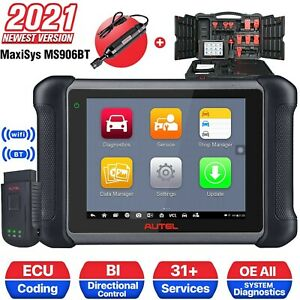 Autel Maxisys Ms906bt Auto Diagnostic Tool Code Reader Scanner Ecu Coding Mv108