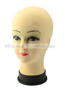 10 5 Female Mannequin Bald Head Wigs Hats Sunglasses Scarves Jewelry Display