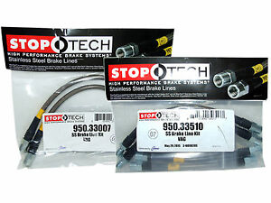 Stoptech Stainless Steel Braided Brake Lines front Rear Set 33007 33510