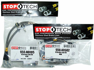 Stoptech Stainless Steel Braided Brake Lines front Rear Set 40005 40502
