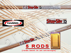 5 Sticks 5 Rods Harris Stay silv 15 Silver Soldering Rods Bcup 5