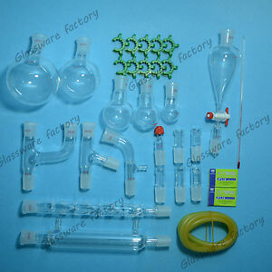 29pcs 24 29 organic Chemistry Glassware Kit laboratory Chemistry Kit lab Glass