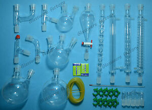 Advanced Lab Chemistry Glassware Kit laboratory Glassware Set 24 29 Joints