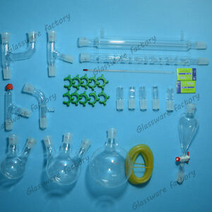 New Advanced Chemistry Lab Glassware Kit 24 29 Ground Joint lab Glass