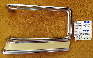 1975 76 Cadillac Lh Cornering parking Lamp Chrome Bezel painted Insert Nice