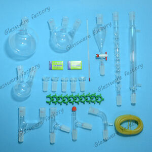 New Advanced Chemistry Lab Glassware Kit 24 40 Ground Joint 29pcs lab Glass
