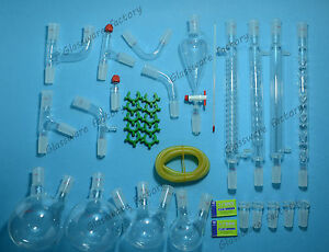35pcs 24 40 new Advanced Organic Chemistry Glassware Kit laboratory Glass Set