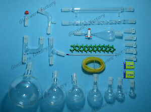 32pcs 24 40 organic Chemistry Glassware Kit laboratory Chemical Kit 2000ml