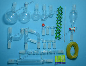 New Organic Chemstry Glassware Kit laboratory Glass Unit 29 Pcs lab Glass 24 40