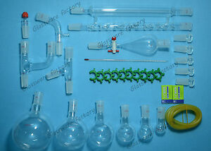 Organic Chemistry Glassware Kit lab Glass Set 24 40 31pcs lab 24 40 Glassware