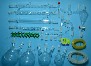 Organic Chemistry Glassware Kit 33 Pcs 24 40 lab Chemilcal Unit lab Glass 24 40