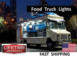 Organic Food Truck Food Cart Led Lighting Kits Stainless Steel Cart