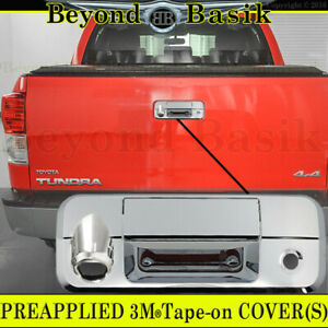 Toyota Tundra 07 13 Chrome Tailgate Handle Cover Overlay Rear Trim W Camera Hole