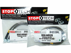 Stoptech Stainless Steel Braided Brake Lines Front Rear Set 44007 44520