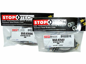 Stoptech Stainless Steel Braided Brake Lines front Rear Set 47006 47507